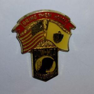 P.O.W.  Massachusetts pin